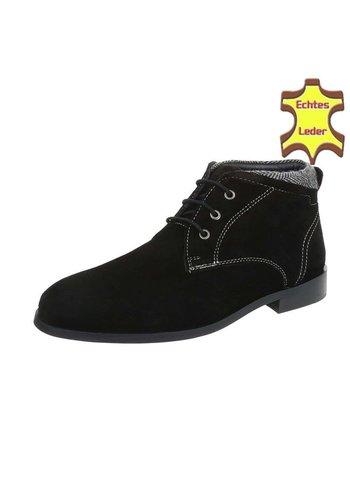 Neckermann Leder Stiefeletten für Männer - schwarz
