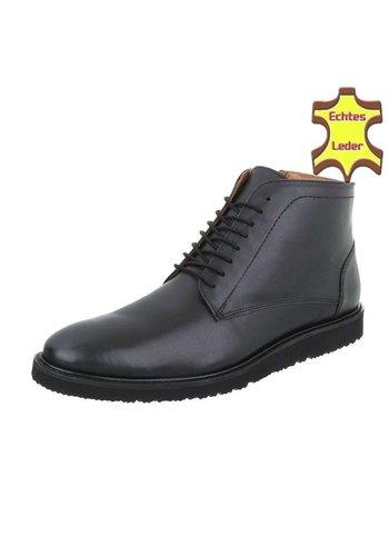 Neckermann Bottines pour hommes en cuir - noir