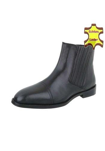 Neckermann Lederen hoge schoen zonder veters - zwart