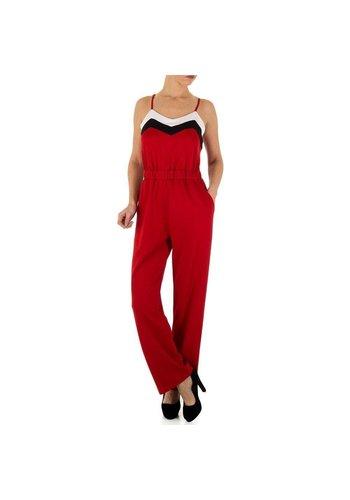 Neckermann Dames Jumpsuit - rood