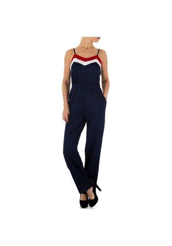 Neckermann Dames Jumpsuit - DK.blauw