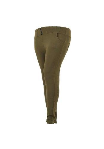 HOLALA Pantalons pour dames - kaki