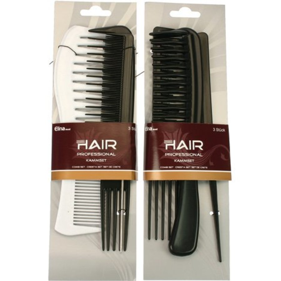 Combset 3er Hairstudio 2fach sortieren. a) Karte 20 cm