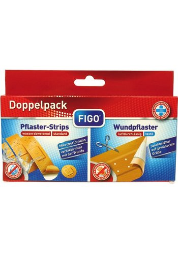 Figo Robe de plaie double pack 50x6cm + bandes 20e