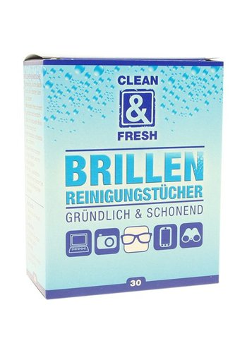 Clean and Fresh Brillenputztücher 30 Stück Clean + Fresh