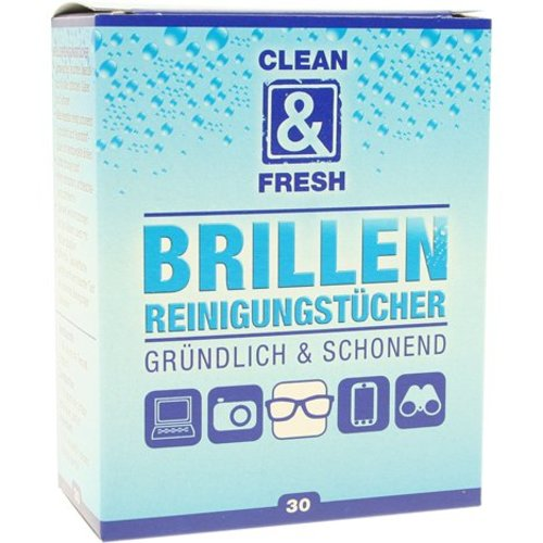 Clean and Fresh Brillenputztücher 30 Stück Clean + Fresh