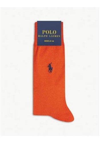 Ralph Lauren Damessokken - oranje - maat 9-11