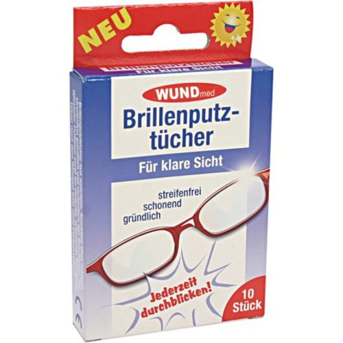 WundMed Brillenputztücher 10 mit Anti-Fog-Effekt
