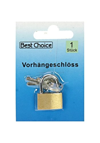Best Choice Cadenas 2,5x1,5cm Laiton