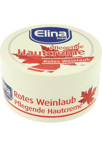 Creme Elina 150ml Rode wijnblaadjes crème in pot