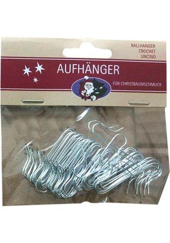 Neckermann Crochets pour arbres de Noël - argent - 50 pièces