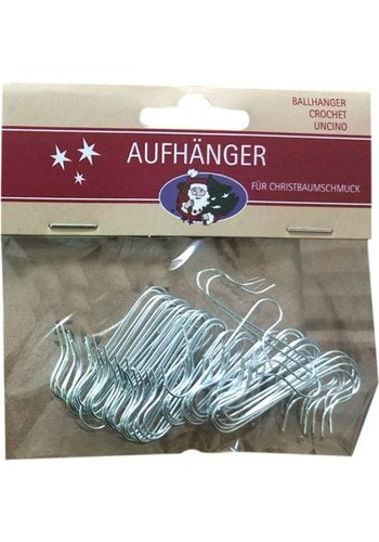Neckermann Weihnachtsbaum Haken - Silber - 50 Stück