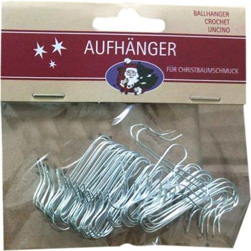 Neckermann Kerstboomhaakjes - zilver - 50 stuks
