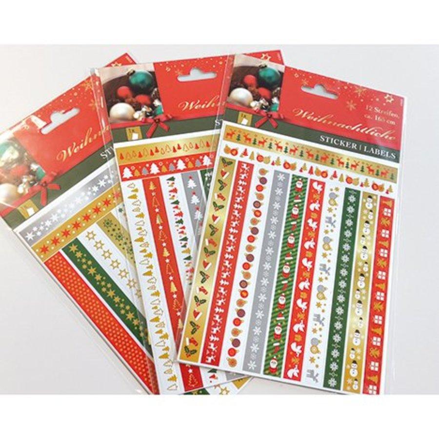 Kerststickers - 12 stuks - 165cm