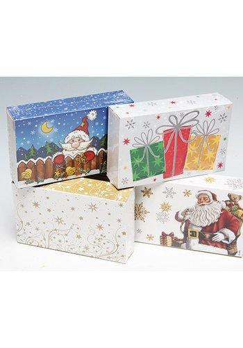 Neckermann Geschenkbox - kerst - 16x10x4cm - assorti