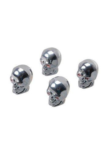 Automax Bouchons de valve - crâne - 4 pièces