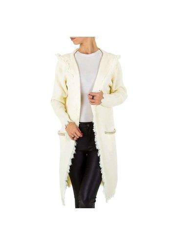 Voyelles Dames vest van Voyelles Gr. een maat - wit