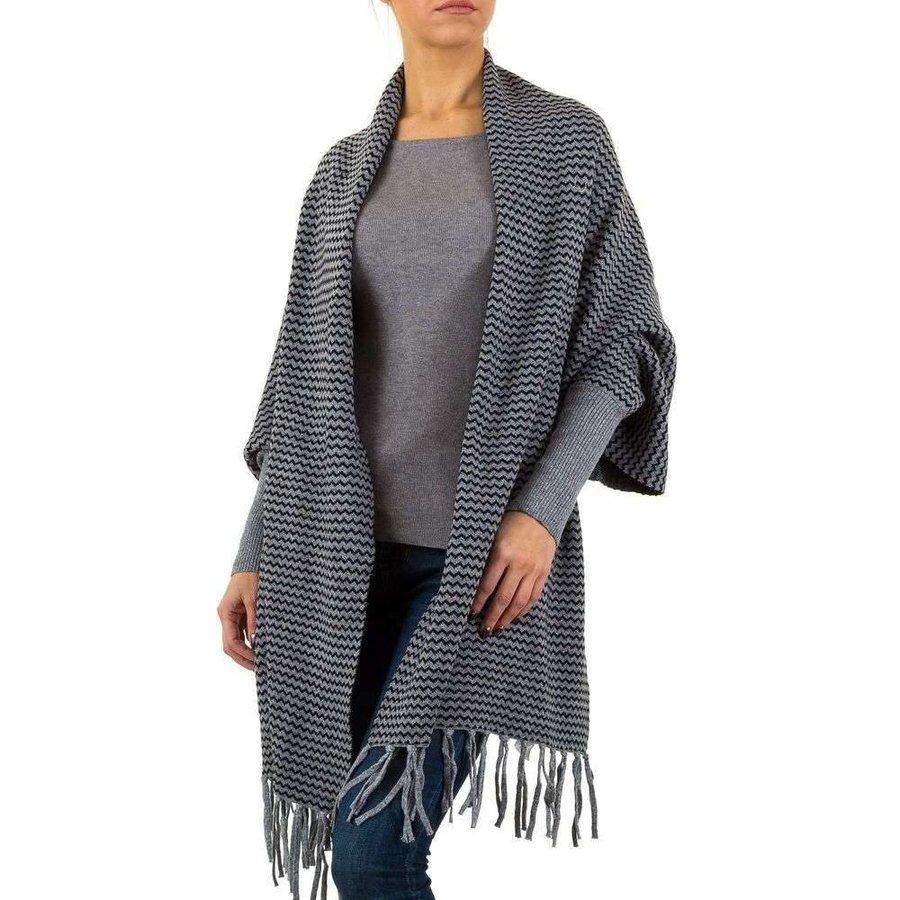 Dames vest van Moewy Gr. één maat - grijs zwart