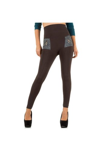 Best Fashion Dames Legging . 1 maat - bruin