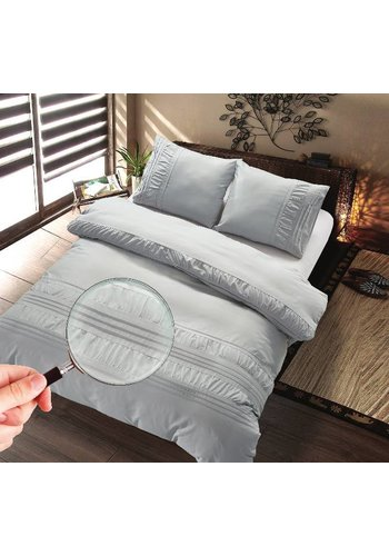 The Supreme Home Collection The Supreme Home Collection Guardea 200x200/220 +2*60x70cm Sil Grey