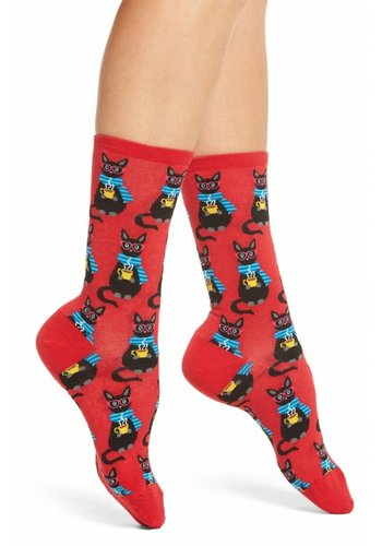 Hotsox Chaussettes pour dames - chats - taille 9-11