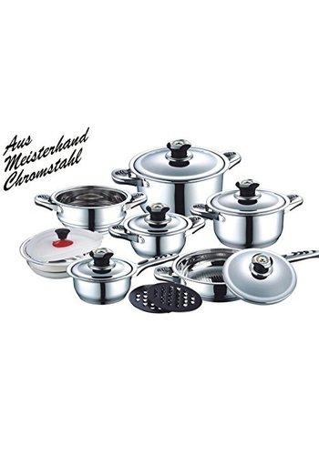 Neckermann Set de casseroles 16 pièces - acier inoxydable