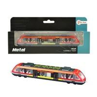 Metalen trein in vensterdoos