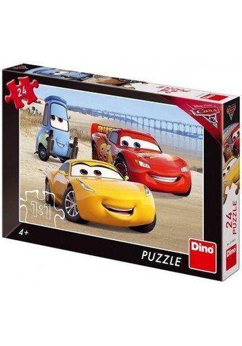 Disney Cars Puzzel Cars 3 - Het strand - 24 stuksjes