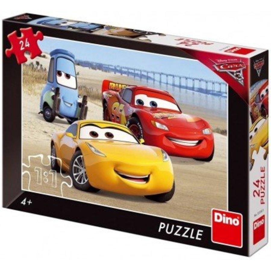 Puzzel Cars 3 - Het strand - 24 stukjes