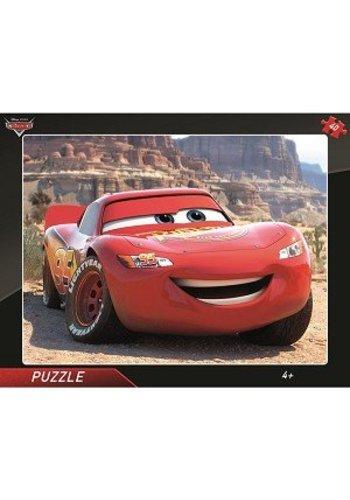 Disney Cars Frame puzzel - Cars Lightning Mcqueen - 40 stukjes