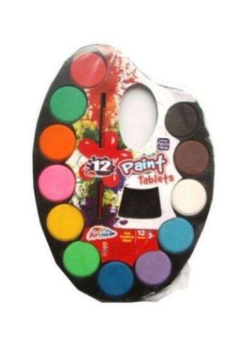 Neckermann Farbsatz mit Pinsel 12 Stück