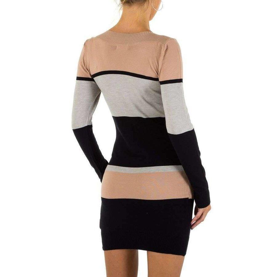 Damen Kleid von Emmash Gr. one size - taupe