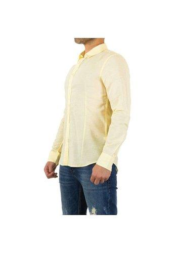 Neckermann Heren overhemd - zacht geel