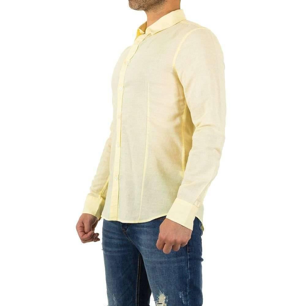 Geel Overhemd Heren.Heren Overhemd Zacht Geel Neckermann Com