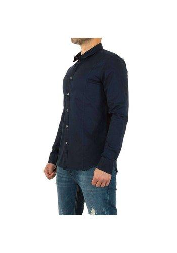 Neckermann Heren overhemd - donkerblauw