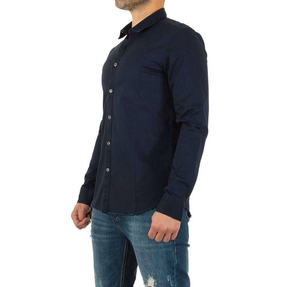 Donkerblauw Overhemd.Heren Overhemd Donkerblauw Neckermann Com