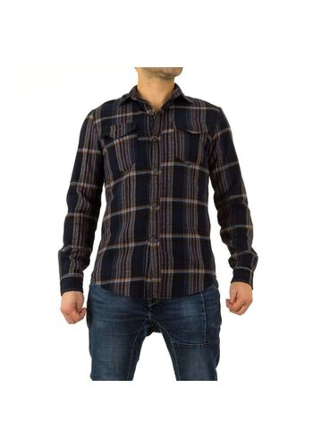 Neckermann Heren overhemd  - donkerblauw geruit