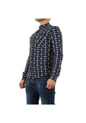 Neckermann Heren overhemd  - blauw geruit