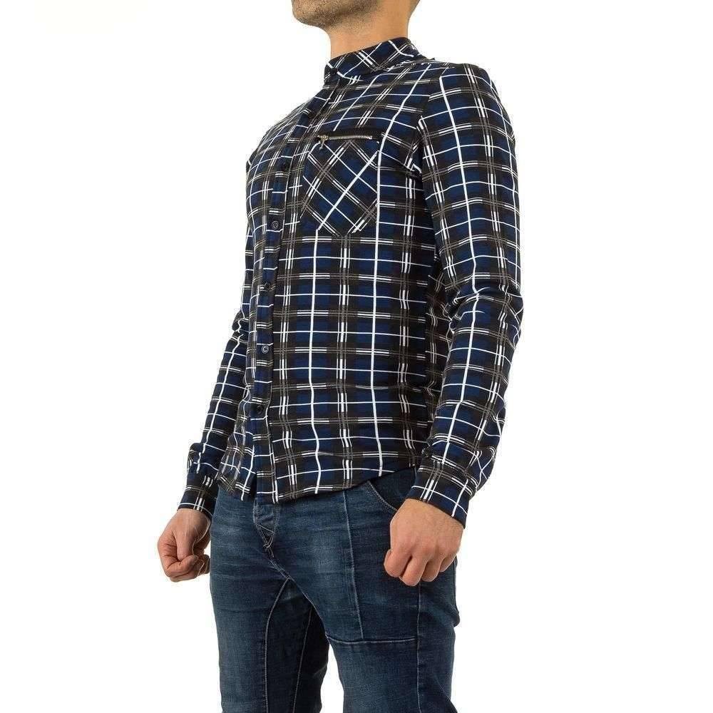 Heren Overhemd Blauw.Heren Overhemd Blauw Geruit Neckermann Com