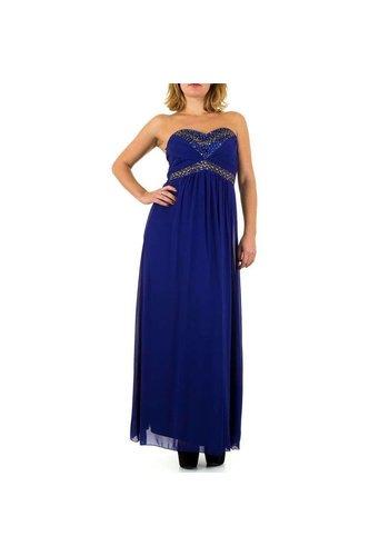 USCO Dames jurk  van Usco - lang strapless - Blauw