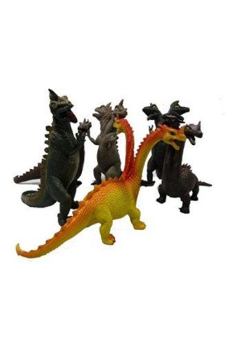 Neckermann Dino's - plastic - tweekoppig - 20 cm