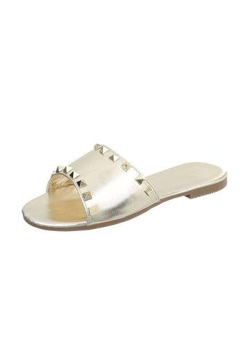 Neckermann Dames platte sandalen - goud