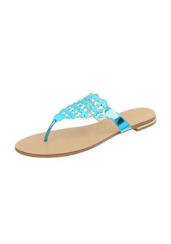 Neckermann Dames platte sandalen - L.blauw
