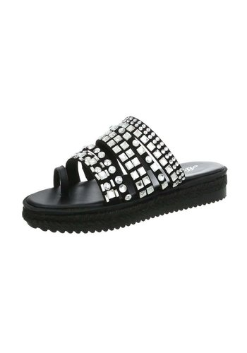 Neckermann Dames Slippers- zwart