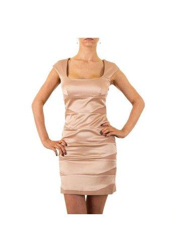 USCO Dames jurk van Usco - champagnekleur