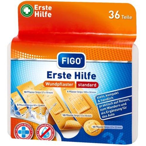 Figo Pleisters - 5 verschillende maten - 36 stuks - compact