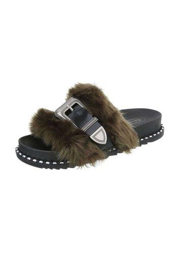 Neckermann Dames platte sandalen - groen