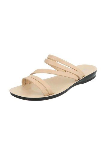 Neckermann Dames platte sandalen - beige