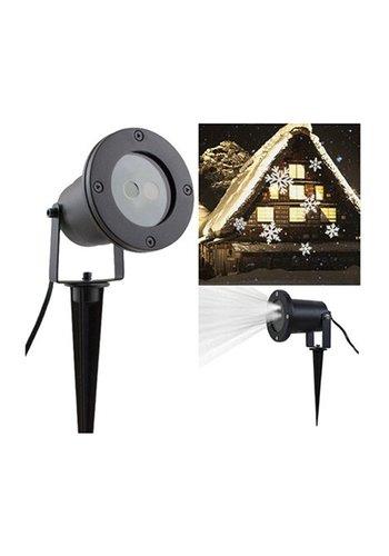 Eco Led LED Projektor Schneeflocke, Kunststoff/Metall,