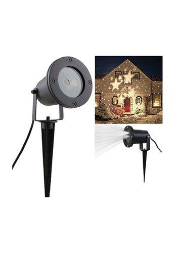 Eco Led LED Projektor Sterne, Kunststoff/Metall, schwarz,
